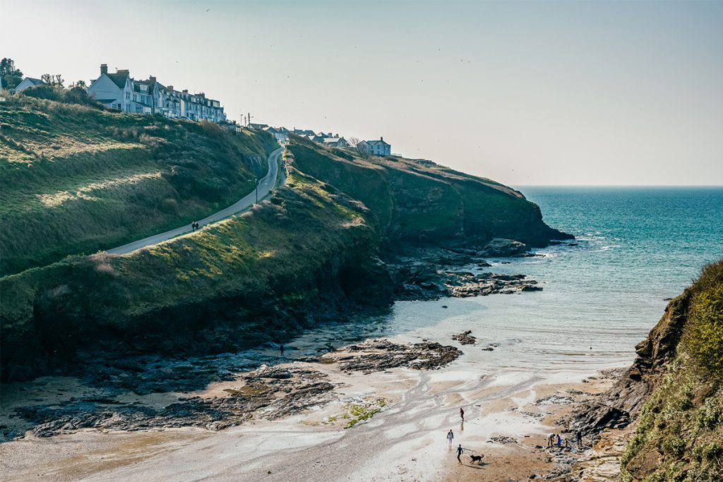 Cove near Dog-friendly Apartments at Port Gaverne by Forever Cornwall Holiday CottagesPort Gaverne Forever Cornwall