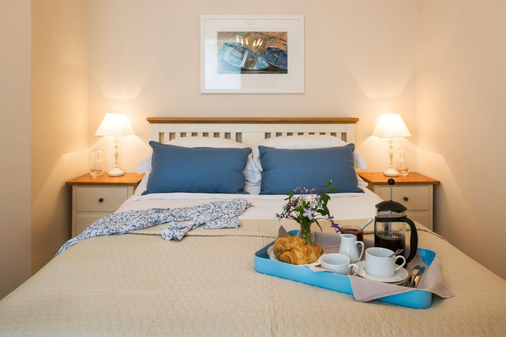 bedroom at Captain's Rest Self Catering Dog-friendly apartment St Ives by Forever Cornwall