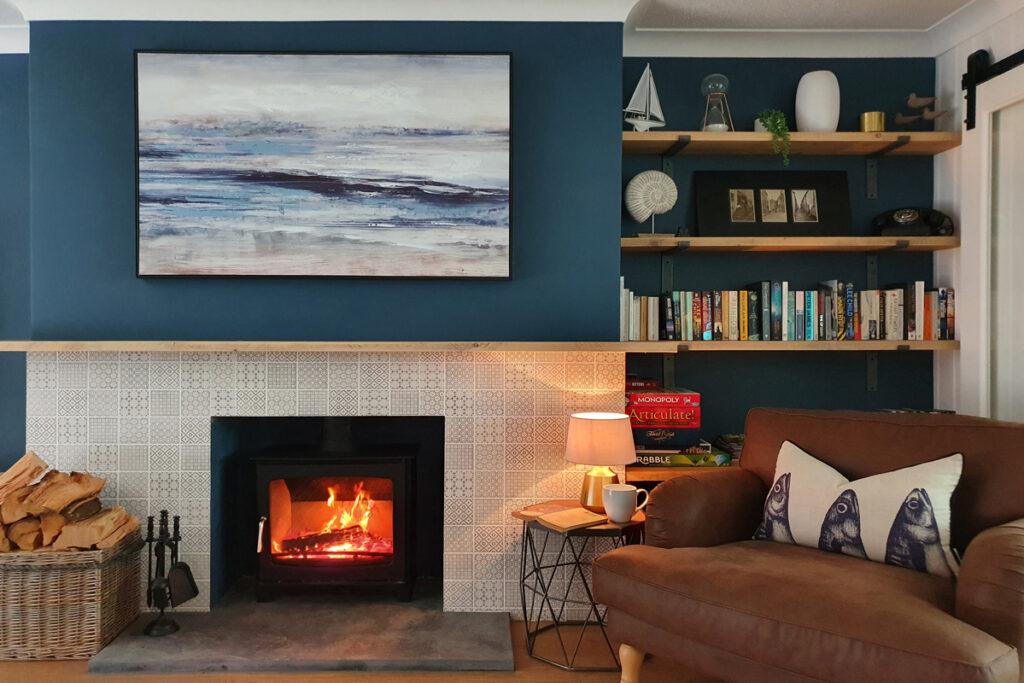 Wood burner had Castaway Cottage Gwithian in Cornwall