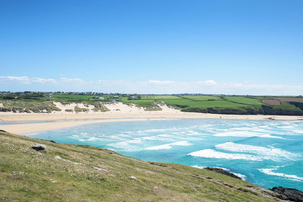 Beach near self-catering holiday accommodation in Newquay by Forever Cornwall