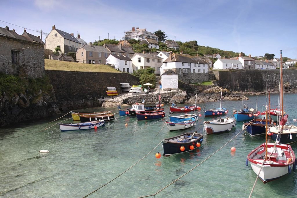 Fishing boats in Coverack Harbour in the Lizard
