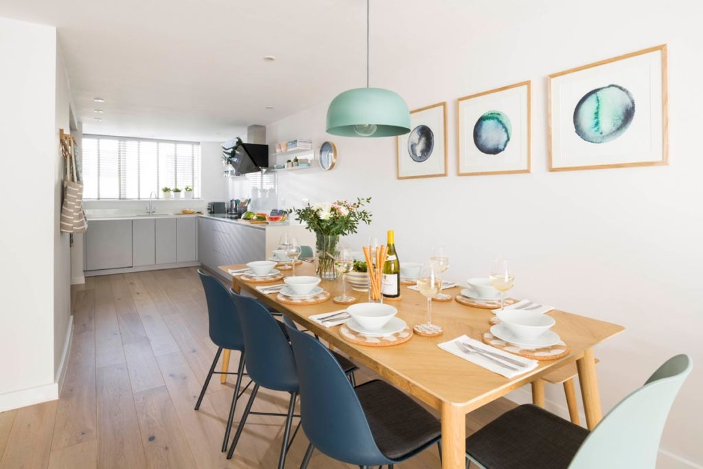Interior of Holywell Bay luxury holiday cottage Samphire from Forever Cornwall