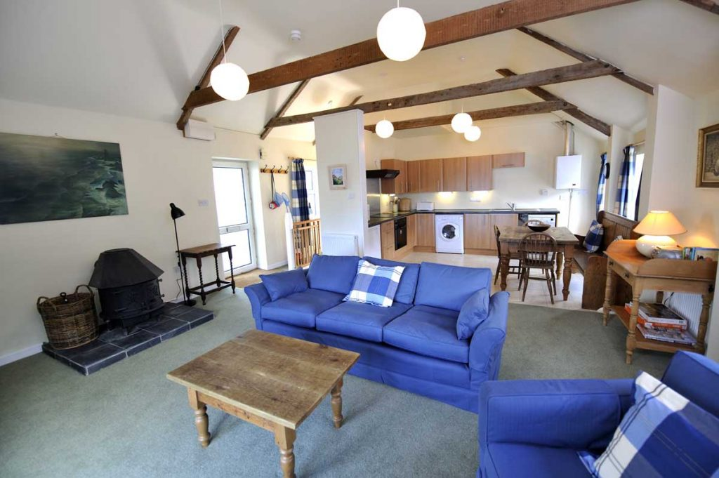 Interior of Port Gaverne self catering cottage from Forever Cornwall
