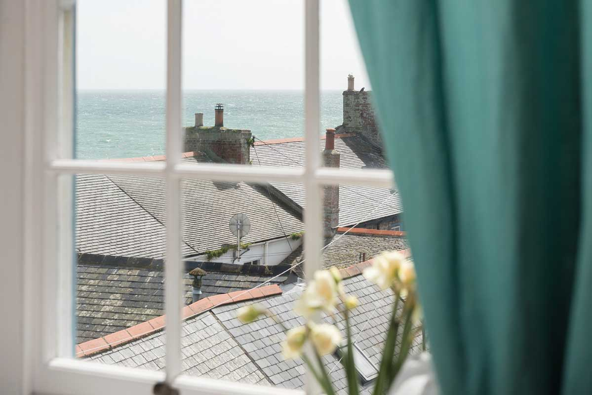 View over Mousehole from St Clement's House holiday accommodation