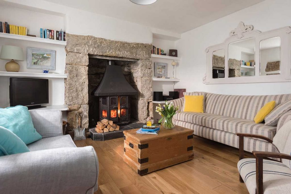 Cosy interior of St Clement's House in Mousehole