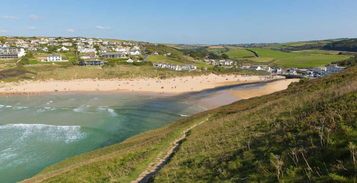 Mawgan Porth beach near Forever Cornwall