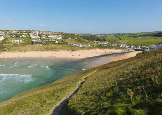 Mawgan Porth beach near Forever Cornwall's holiday cottages