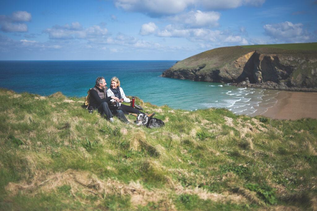 Mawgan Porth south west coast path Forever Cornwall