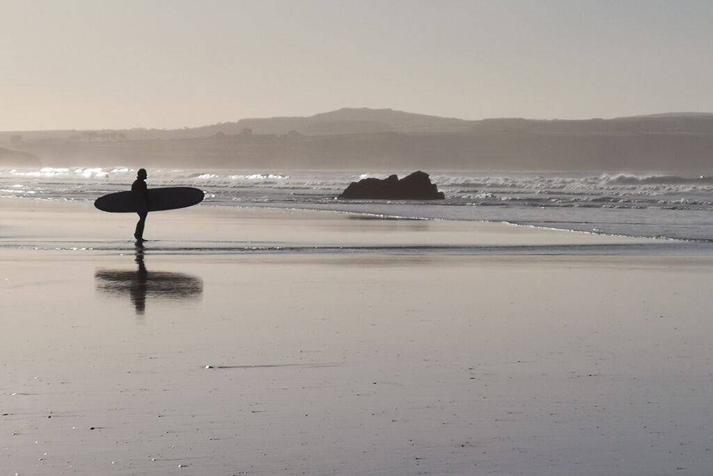 Gwithian surfer forever cornwall