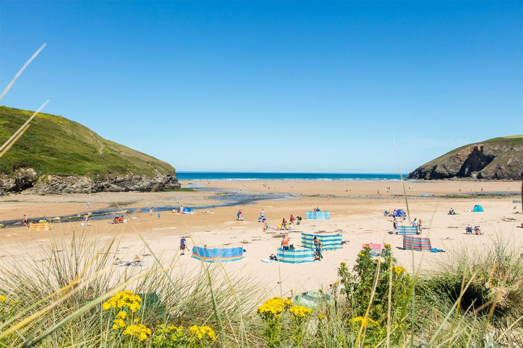 Mawgan Porth beach near to Forever Cornwall holiday cottages