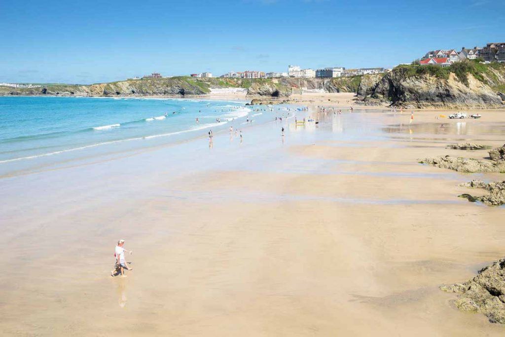Beach near Newquay holiday cottages by Forever Cornwall