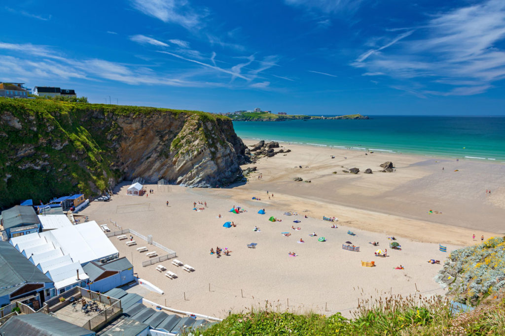 Lusty Glaze near luxury apartment at Newquay - Pebble Beach by Forever Cornwall