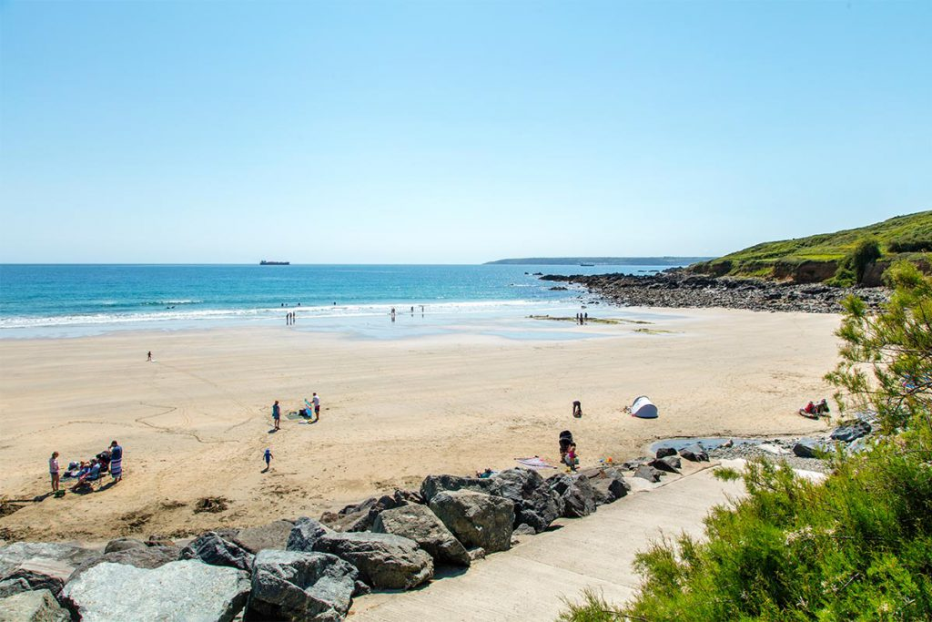 Beach near Marazion holiday cottages by Forever Cornwall
