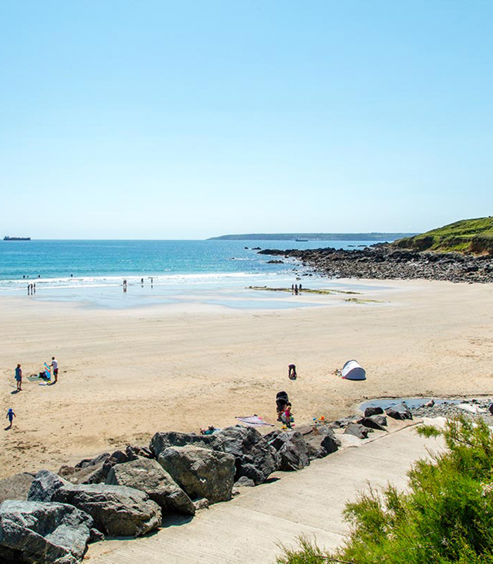 Perranuthnoe beach in West Cornwall