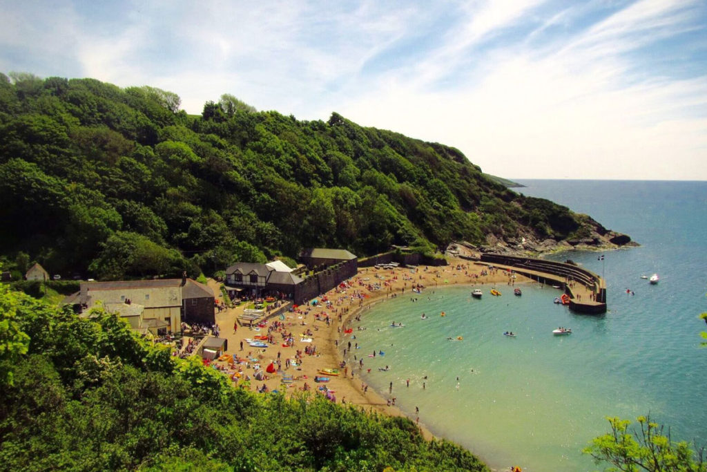 Beach near Fowey River holiday cottages by Forever Cornwall