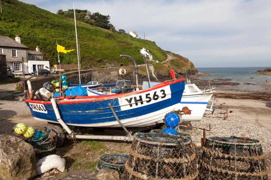Port Gaverne With Fishing Boat Web