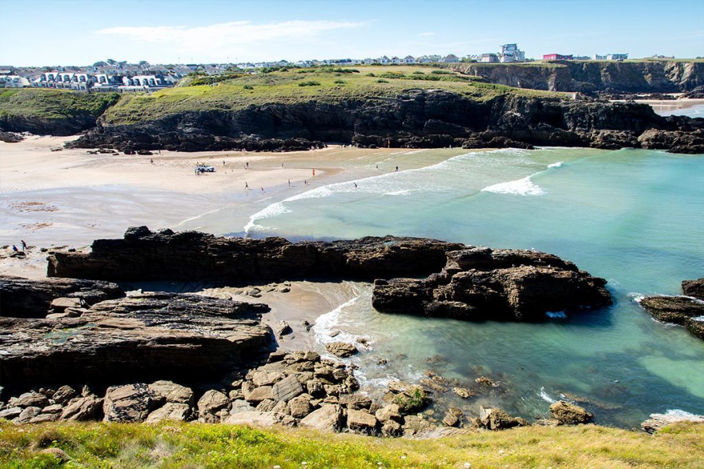 Newquay Beach in vicinity of holiday cottages by Forever Cornwall