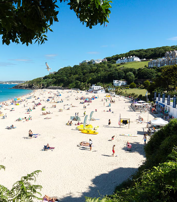 Porthminster Beach in West Cornwall