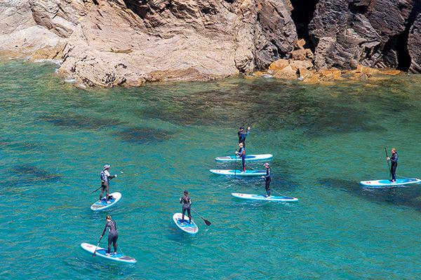 Port Gaverne Stand up paddleboarding Rock tors
