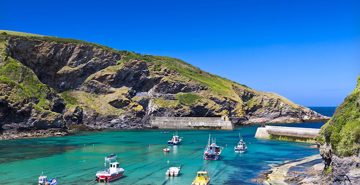 Port Isaac harbour as seen from Forever Cornwall holiday cottages nearby