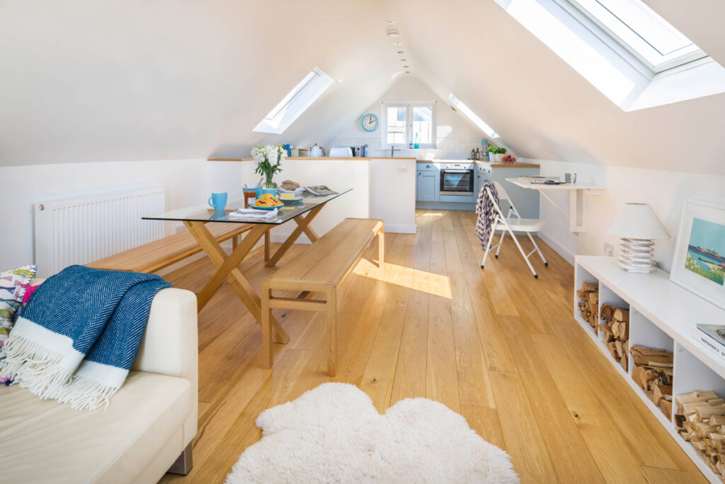 Gwithian beach house - inside The Surf House holiday accommodation with Forever Cornwall