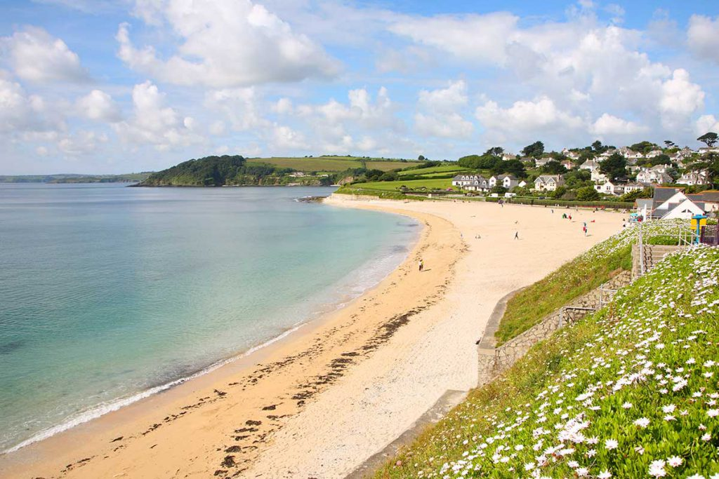Gyllyngvase Beach near holiday cottages in Falmouth by Forever Cornwall