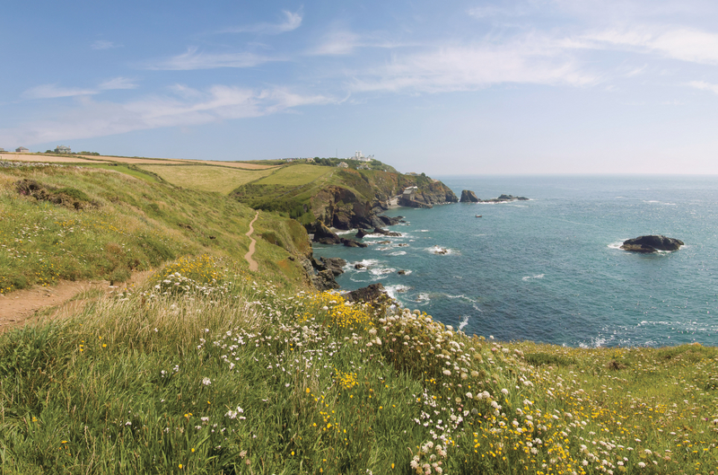Coastline near holiday cottages on the Lizard Peninsula by Forever Cornwall