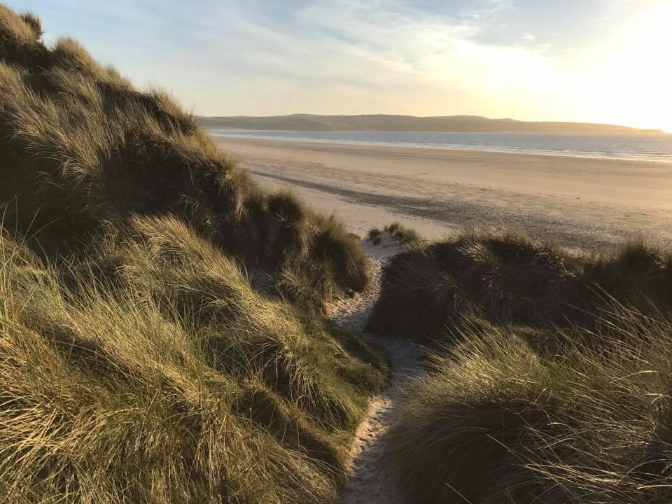 Gwithian dunes towans beach Cornwall