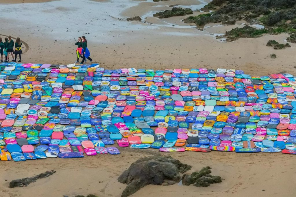 Bodyboards on Beach Plastic Free Cornwall