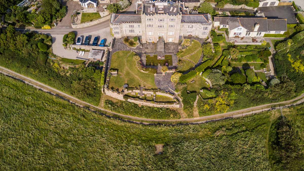 Cornwall Holiday Apartment Acton Castle From The Air 0299