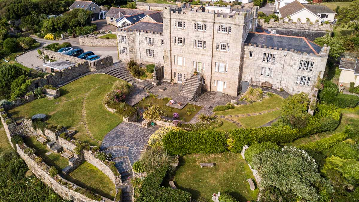 Cornwall Holiday Apartment Acton Castle From The Air 0310