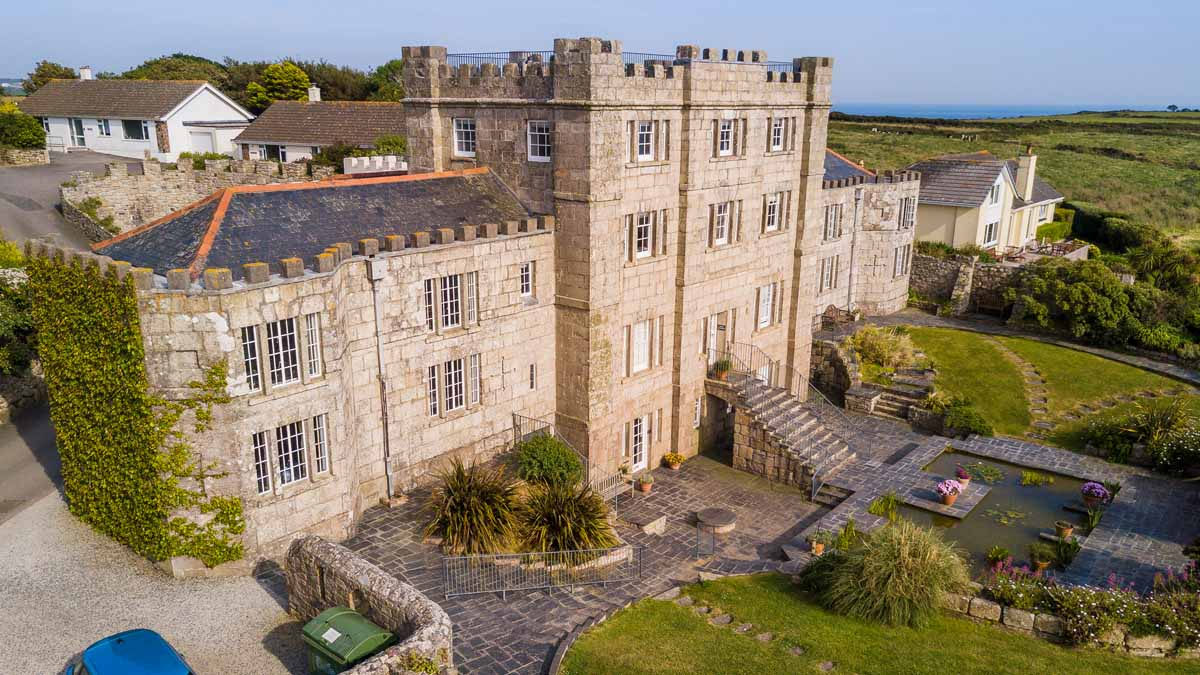 Cornwall Holiday Apartment Acton Castle From The Air 0314