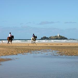 Ferienhäusern In Den Verschiedenen Küstengebieten Cornwalls Gwithian
