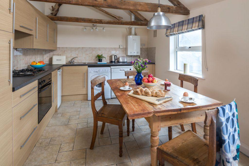 Kitchen at Marigold Cottage Port Gaverne by Forever Cornwall