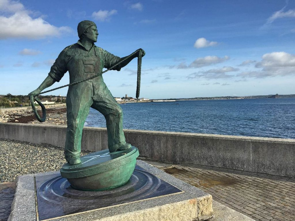 Forever Cornwall Newlyn Green Fisherman Statue