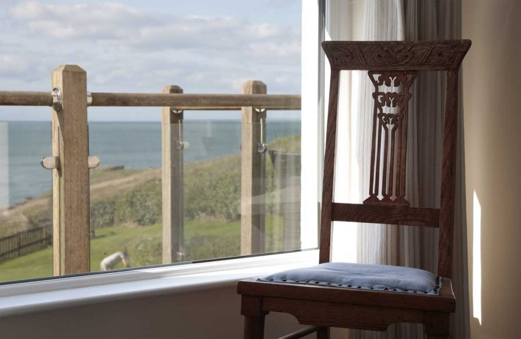 View from bedroom at large holiday apartment in Port Gaverne from Forever Cornwall