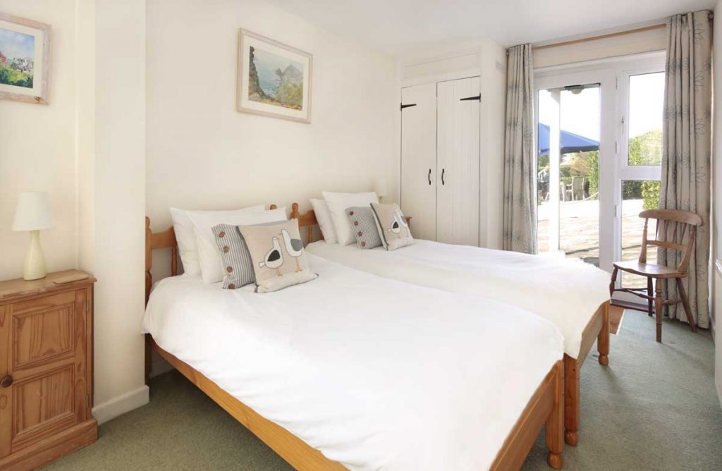 Bedroom at Port Gaverne self catering cottage from Forever Cornwall
