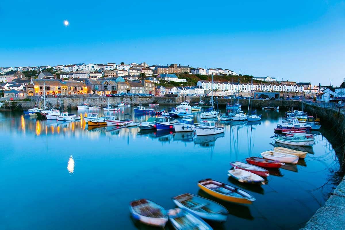 Forever Cornwall Porthleven Harbour Night