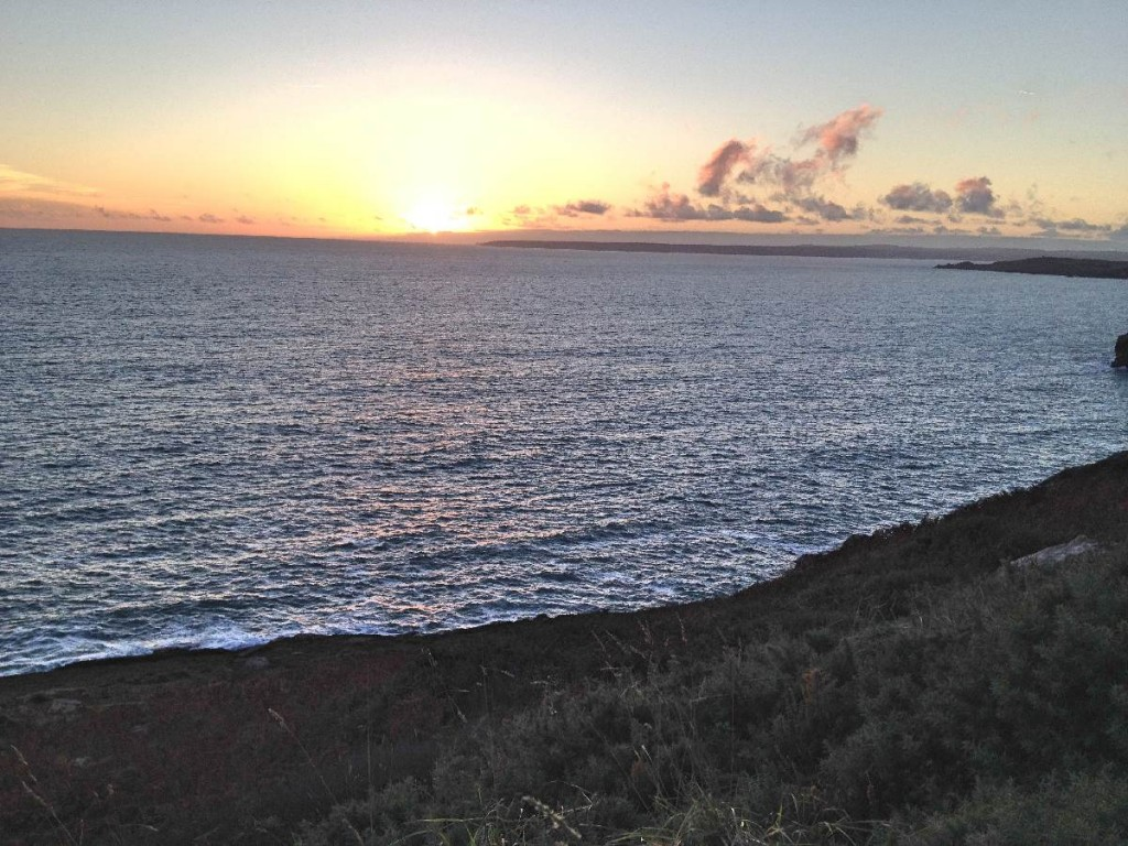 Forever Cornwall Rinsey Sunset Over Sea