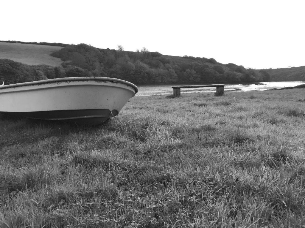Forever Cornwall Scotts Quay Boat And Quay B&W