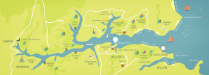 Forever Cornwall Sailaway Map Of Helford