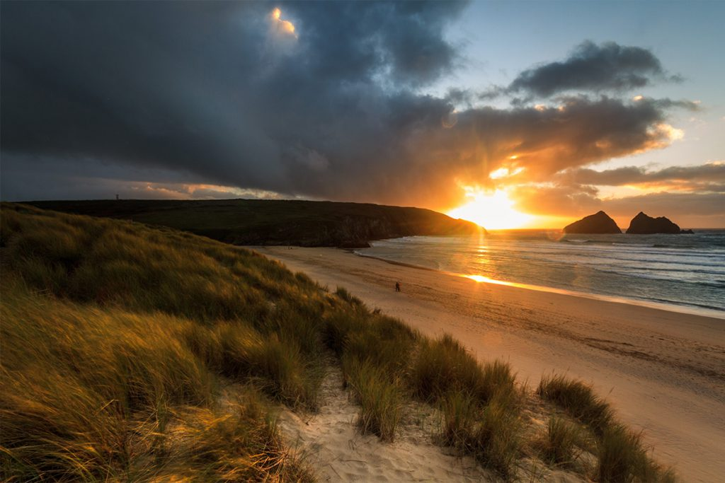 Holywell Bay Sunset