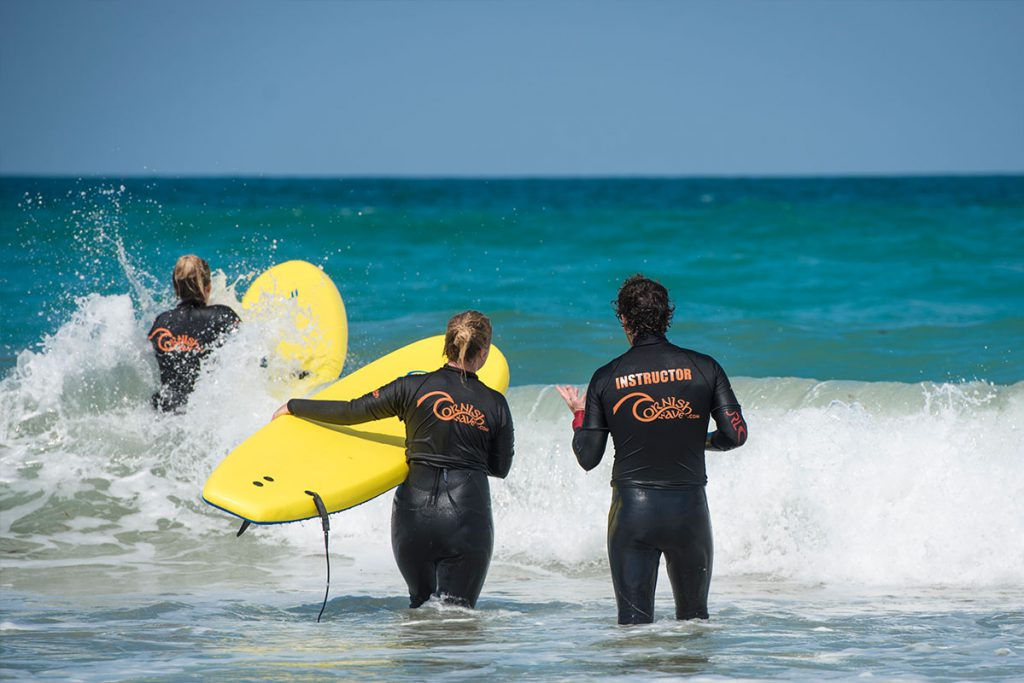 Surf Lesson Cornish Wave Newquay