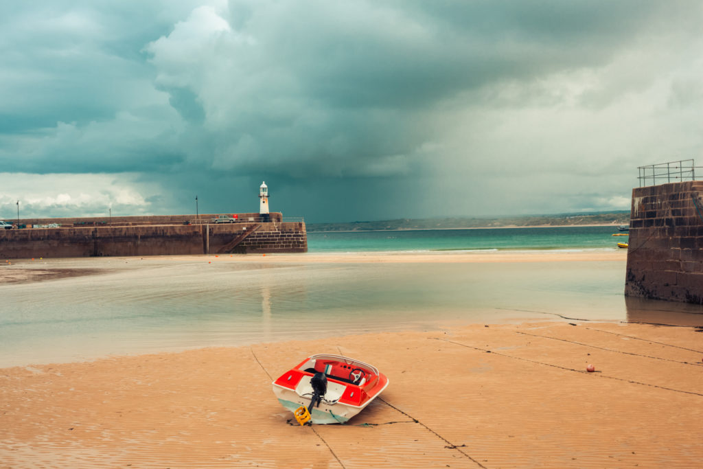 Boats At Low Tide In St. Ives